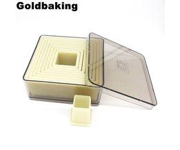 Vierkante Nylon Cookie Cutter 9 Stuks Biscuit Snijders Goldbaking