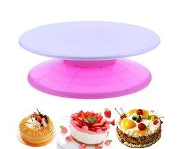 29 cm ABS Cake Turntable Revolving Stand Ronde Roterende Taart Swivel Cake Bakken Decorating Tray Tools Taart Kwartelplaat VKTECH
