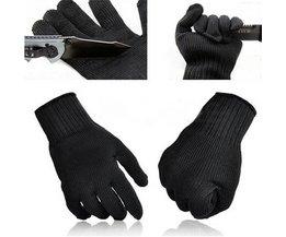 Rvs Draad Veiligheid Werk Anti-Slash Cut Statische Weerstand slijtvaste Beschermen Handschoenen Hand Veilig Security zwart Safurance
