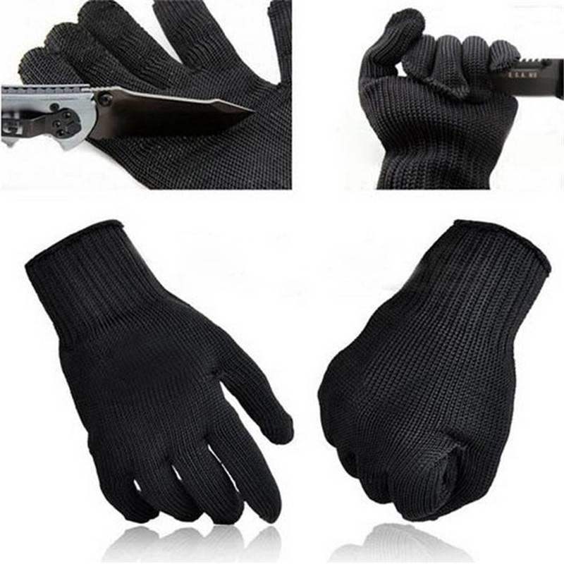NIEUWE Rvs Draad Veiligheid Werk Anti-Slash Cut Statische Weerstand slijtvaste Beschermen Handschoen