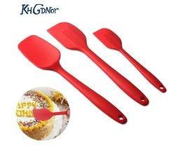 3pcs. set Siliconen Spatels Anti-aanbak Hittebestendige Schraper Cake Decoratie Crème Schraper Bakken Gebak Mengen Gereedschap KHGDNOR