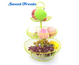 "Sweettreats Kleurrijke Fruit Rack-3 Tier Staal Gelaagde Vrijstaande Keuken Counter Top Fruitmand Stand-16"" sweettreats"