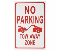 Aluminiumlegering Geen Parking-Tow Away Zone Waarschuwing Teken Werkplek Security Safurance