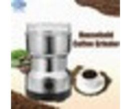 EU Plug Elektrische Rvs Koffieboon Grinder Thuis Slijpen Freesmachine 220 V Koffie Accessoires Keukengerei warmtoo