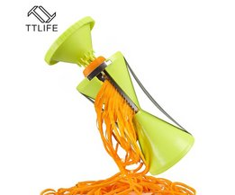 4 Blades Plantaardige Spiralizer Spiraal Groentesnijder Keuken Gadget Groente Fruit Slicer Peeler TTLIFE