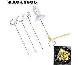 1 Set Aardappel Spiraal Cutter Slicer Spiraal Chips Aardappel Toren Maken Twist Shredder Koken Gereedschap ORGANBOO
