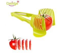 Delidge 1 st Tomaat Snijmachine Vruchten Cutter Stand Tomaat Citroen Cutter Utensilios De Cozinha Assistent Slenterden Shreadders Slicer delidge