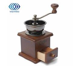 1 STKS Retro ontwerp Mini Manual Coffee Mill Wood Stand Bowl Antieke Hand Koffieboon Grind als warmtoo