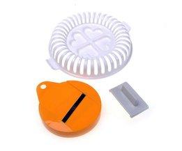 SZSPlastic DIY Aardappel Chip Vegtable Slicer en Plaat Voor Magnetron Gebakken SSGP