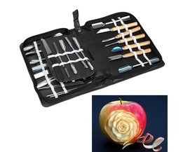 46 Stks Culinaire Carving Tool Rvs Set Fruit Groente Garnering Snijden Cutting Snijdende Keuken Tool Set Aihogard