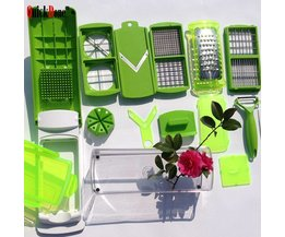 QuickDone 12 in1 Multifunctionele Mandoline Nicer Dicer Plus Roestvrijstalen Messen Dunschiller Slicer Rasp DOOS AKC6009 quickdone