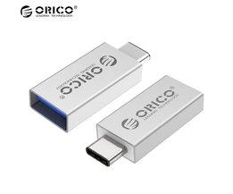 CTA1 OTG Adapter Type-C Converter Aluminium Type-C/M naar USB A/F OTG Adapter OTG USB3.0 Data-overdracht-Zilver Orico
