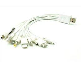 10 in 1 universele usb kabels voor mobiele telefoons multi charger kabel voor iphone ipad Samsung geluid batterij 1 10 kabel PSP MP4 BINYEAE