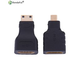 1 set HDMI naar Micro HDMI + HDMI naar Mini Converter Vergulde HD Extension Adapter Connector voor Video TV voor Xbox 360 HDTV 1080 P Rondaful