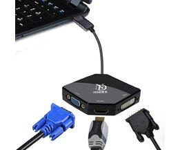 Display port naar hdmi dvi vga converter man-vrouw kabel 1080 p voor monitor multimedia projector multifunctionele adapter MyXL