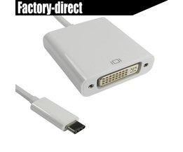 USB 3.1 USB-C USB Type C naar DVI converter adapter kabel Apple DeMacbook/Chromebook Pixel/Dell XPS 13/Yoga 900/Lumia 950 BOWU