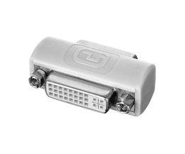 DVI 24 + 5 Vrouwelijke naar 24 + 5 Vrouwelijke VIDEO Converter Adapter 180 graden extender connector CY