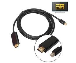 1.8 M/6FT 1080 p Thunderbolt Displayport Mini Display Port DP Male Adapter kabel Voor Apple Macbook Mac Air ALLOYSEED