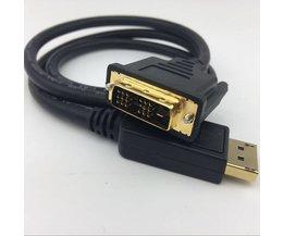 28AWG Dp-displayport-naar DVI kabel 3ft 1 M Displayport naar DVI-D enkele link mannelijke vergulde Playvision