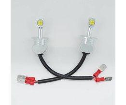 2 Stks Auto koplamp H3 LED 80 W 6000 k Wit 3000lm LED Auto Auto DRL Dagrijverlichting Fog licht Hoofd Lamp Bright guider