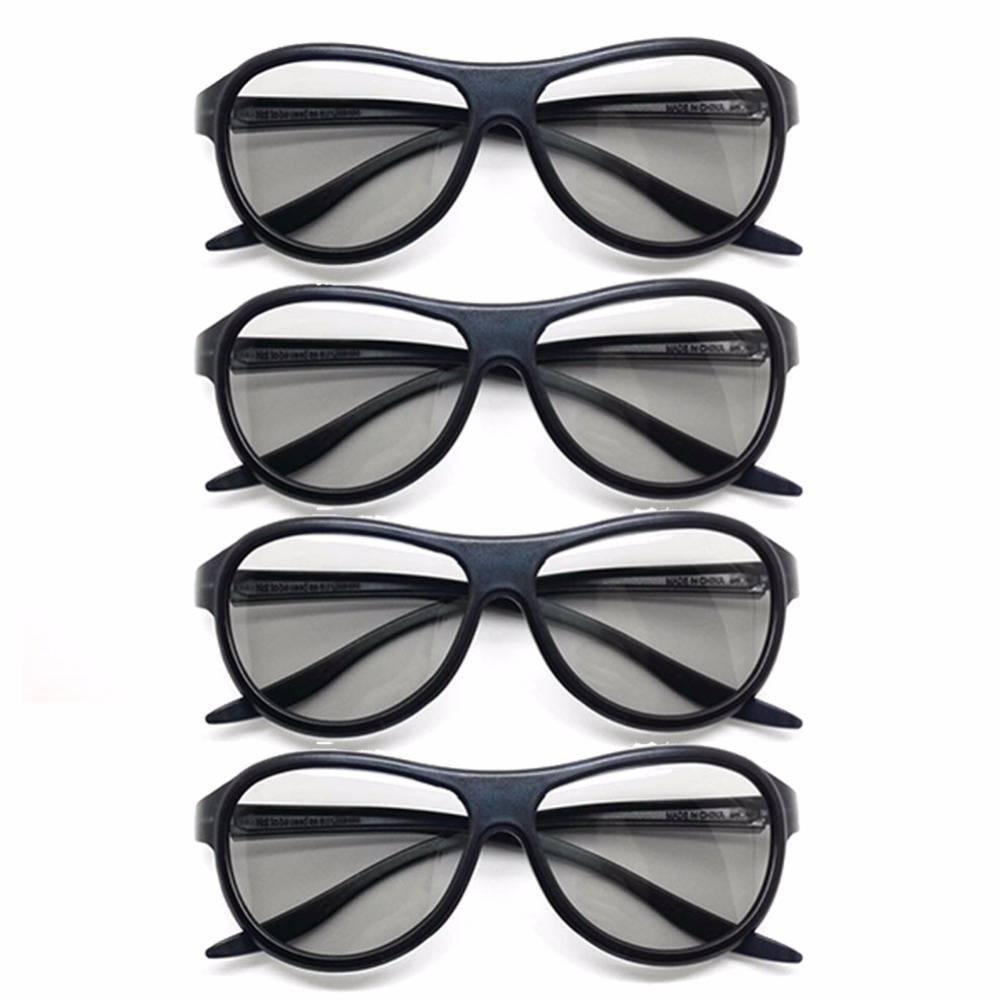 4 stks-partij vervanging ag-f310 3d bril gepolariseerde passieve bril voor lg tcl samsung sony konka
