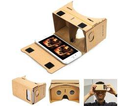 DIY Magneet Google Kartonnen Virtual Reality VR Mobiele Telefoon 3D Bekijken bril Voor iphone 5 s 6 s 7 7 p IOS Android Samsung #2 APE Judixy