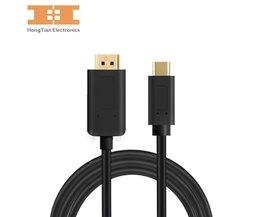 USB C/USB3.1 Type-C naar DisplayPort Kabel Ondersteuning 4 K Externe Video Graphics USB-C naar DP voorMacbook voor Samsung S8 hongtian electronics