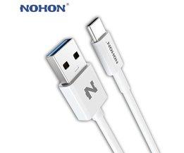 Originele  USB 3.0 Type-C Kabel Type C Usb-kabel 3A voor Samsung Xiaomi Nokia LG MacBook Huawei Android Snelle Opladen Data Nohon