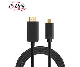 USB C naar HDMI-KABEL Adapter usb3.1 Type-C naar hdmi 4 K 30 HZ voor MacBook Microsoft 950/950XL, LG G5, HTC ULTRA, Samsung S8