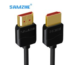 Slim HDMI Kabel HDMI Kabel HDMI 2.0 4 K 3D voor PS3 Projector HD LCD Apple TV Computer Kabels 0.5 M 1 M 1.5 M 2 M 3 M SAMZHE