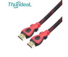 High Speed HDMI Kabel 10 m 15 m 20 m 32Ft 48Ft 64Ft 1.4 V 1080 P Ethernet 3D Vergulde Plug Man-Man Nylon Vlecht voor HDTV XBOX PS3 thundeal