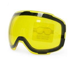 Originele Geel Graced Magnetische Lens voor skibril GOG-2181 anti-condens UV400 sferische ski bril sneeuw goggles Night Skiën copozz