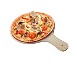 Houten Ronde Pizza Lade Pad met Handvat Pizza Peel Bakplaat Plaat Steen Snijplank Platter Pizza Cake Bakvormen Gereedschap Loriver