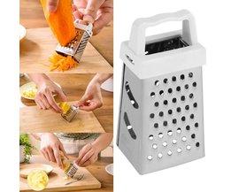 1 st Rvs & ABS Mini 4 Zijden Ontwerp Multifunctionele Handheld Rasp Snijmachine voor Fruit Groente Keuken Tool Drop verzending OUTAD