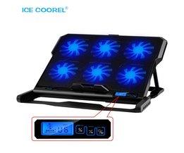 Laptop koeler 2 Usb-poorten en Zes koelventilator laptop cooling pad Notebook Stand voor 12-15.6 inch voor Laptop ICE COOREL