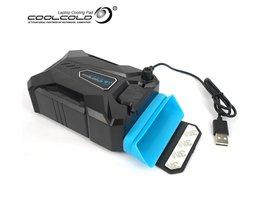 Coolcold Draagbare Laptop USB Koelventilator Luchtkoeler Speed Verstelbare Ice Troll 3 Hoge Prestaties Notebook Cooler Controller Cool Cold
