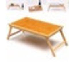 Opvouwbare Houten Bamboe Bed Lade Ontbijt Laptop Bureau Thee Serveren Tafel StandLaptop Standhouder Notebook Cooler Cooling Yu yunai