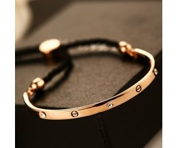 Gloedarmband Real Rose Gold verstelbare Armband & Bangle LuxeVoor Vrouwen INHERLLA