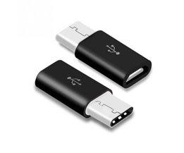 Zwart USB 3.1 Type C Mannelijke naar Micro USB Vrouwelijke Adapter Converter Connector USB-C RV77