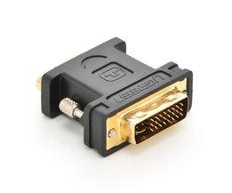 dvi-naar vga adapter dvi24 5 om vga man-vrouw interface conversie kabel <br />  Ugreen