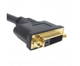 DVI-D Dual Link Mannelijke Digitale 24 1 naar DVI 24 + 1 Vrouwelijke VIDEO Verlengkabel 50 cm voor Monitor Projector <br />  CY