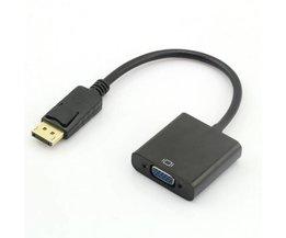 Vergulde Displayport-DP naar VGA converter adapter kabel voor HP Dell PC laptop naar VGA monitoren <br />  MyXL