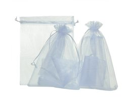 50 Stks Little White Organza Zakjes Voor Sieraden Verpakking En Opslag CandyBags Fit Wedding x-mas gunsten 10x15 cm <br />  MJARTORIA
