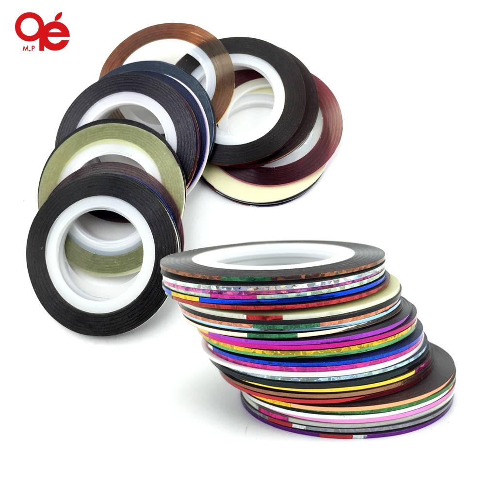 30 Kleuren Rolls Striping Tape Line Nail Art Sticker Gereedschap
