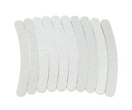 5 x Grijs Nagelvijlen Schuren 100/180 Curve Banaan voor Nail Art Tips Manicure Nail Manicure Tool Set Spons Bestand <br />  Belen