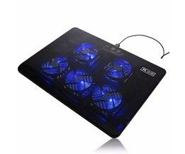 5 Fan Cooling Pad Cooler DC 5 V LED Laptop Cooling Pad Fan Usb-poort Cooling Standhouder Koeler Radiator Voor Notebook 17 inch <br />  S SKYEE