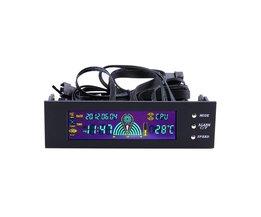 KoopLCD Panel CPU Fan Speed Controller Temperatuur Display 5.25 inch PC Fan Speed Controller Drop Verzending <br />  OXA