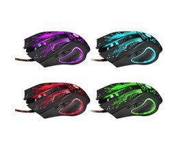 Professionele Wired Gaming Mouse 3200 DPI LED Optische Ergonomie 6 Knoppen USB Gaming Game Muizen Computer Muis voor PC Gamer muis <br />  VAKIND