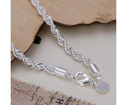 Collectie Echt Charme Zweep Zilver Twisted Touw Armband Dikke Ketting Link Dames Geschenken Top Kwaliteit H207 <br />  <br />  Eighty-seven