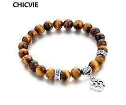 Tijgeroog Natuursteen Armbanden &amp; Bangles Voor Vrouwen Mannen Zilveren kleur Bedelarmband Casual Sieraden LiefdePulseras <br />  CHICVIE